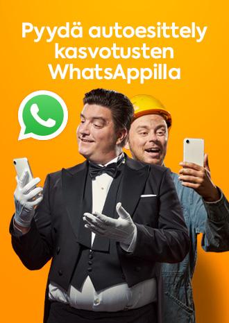 Pyydä autoesittely kasvotusten WhatsAppilla