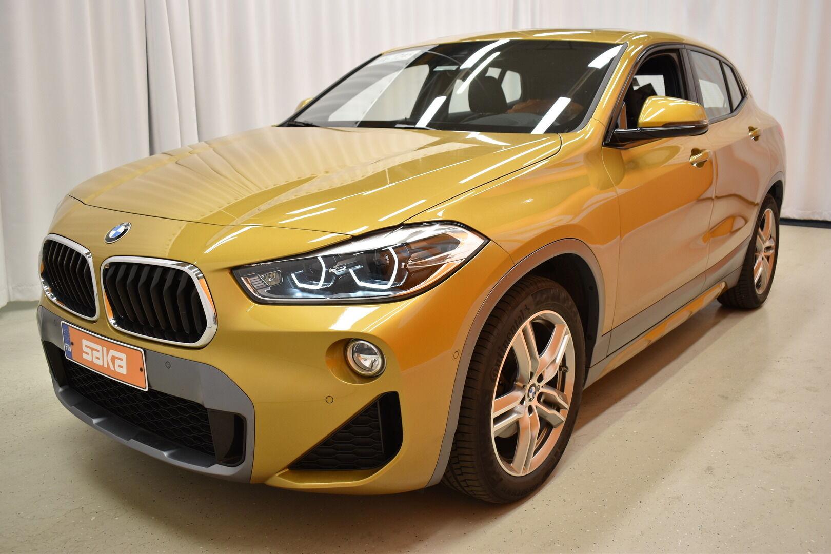 Keltainen Maastoauto, BMW X2 – LAH-64417, kuva 1